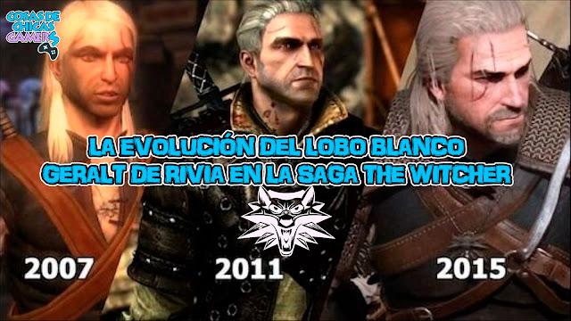 Geralt de Rivia evolución the witcher