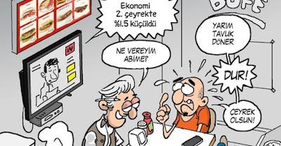 Ekonomi küçüldü