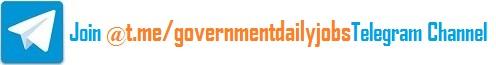 Join our Telegram Channel for latest Govt. Jobs information