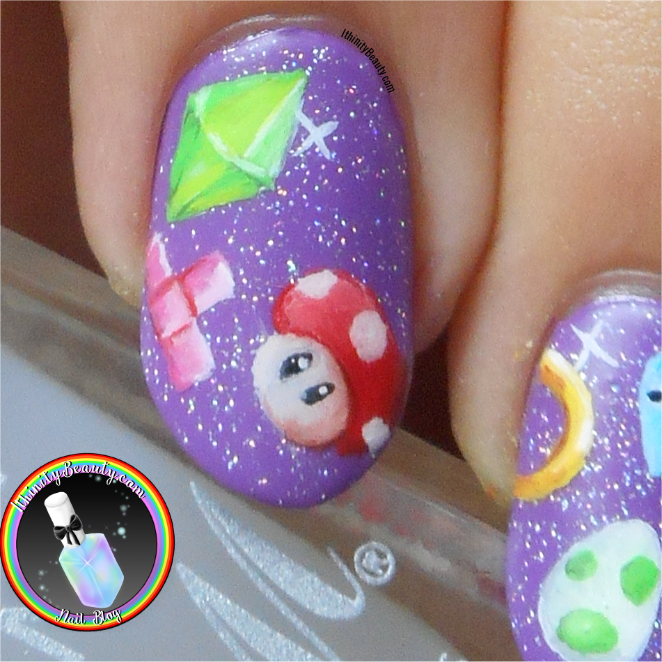 Freehand Video Game - Pikachui, The Sims, Mario + More Nail Art ...