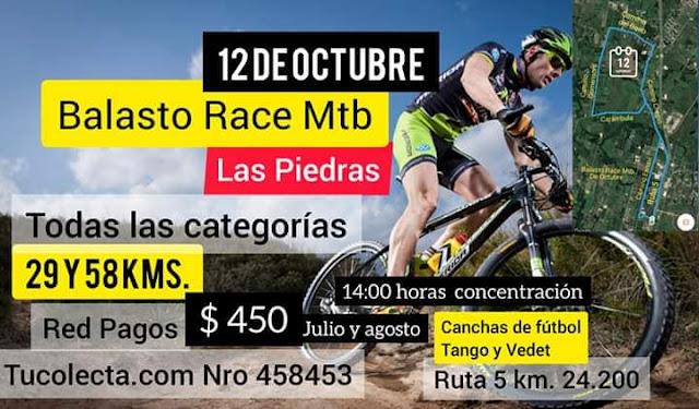 MTB - Balasto Race en Las Piedras (Canelones, 12/oct/2019)