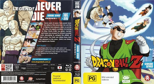 Dragon Ball Z Season 7 Bluray Cover