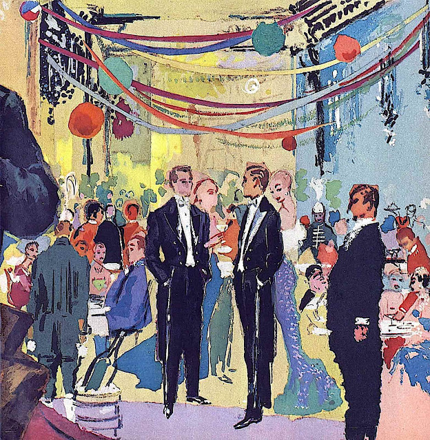 Leroy Neiman 1956, a sophisticated urban party at night