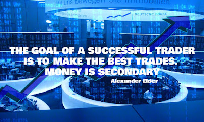 THE GOAL OF A SUCCESSFUL TRADER IS TO MAKE THE BEST TRADES. MONEY IS SECONDARY, Alexander Elder, Quote, Motivational Quote