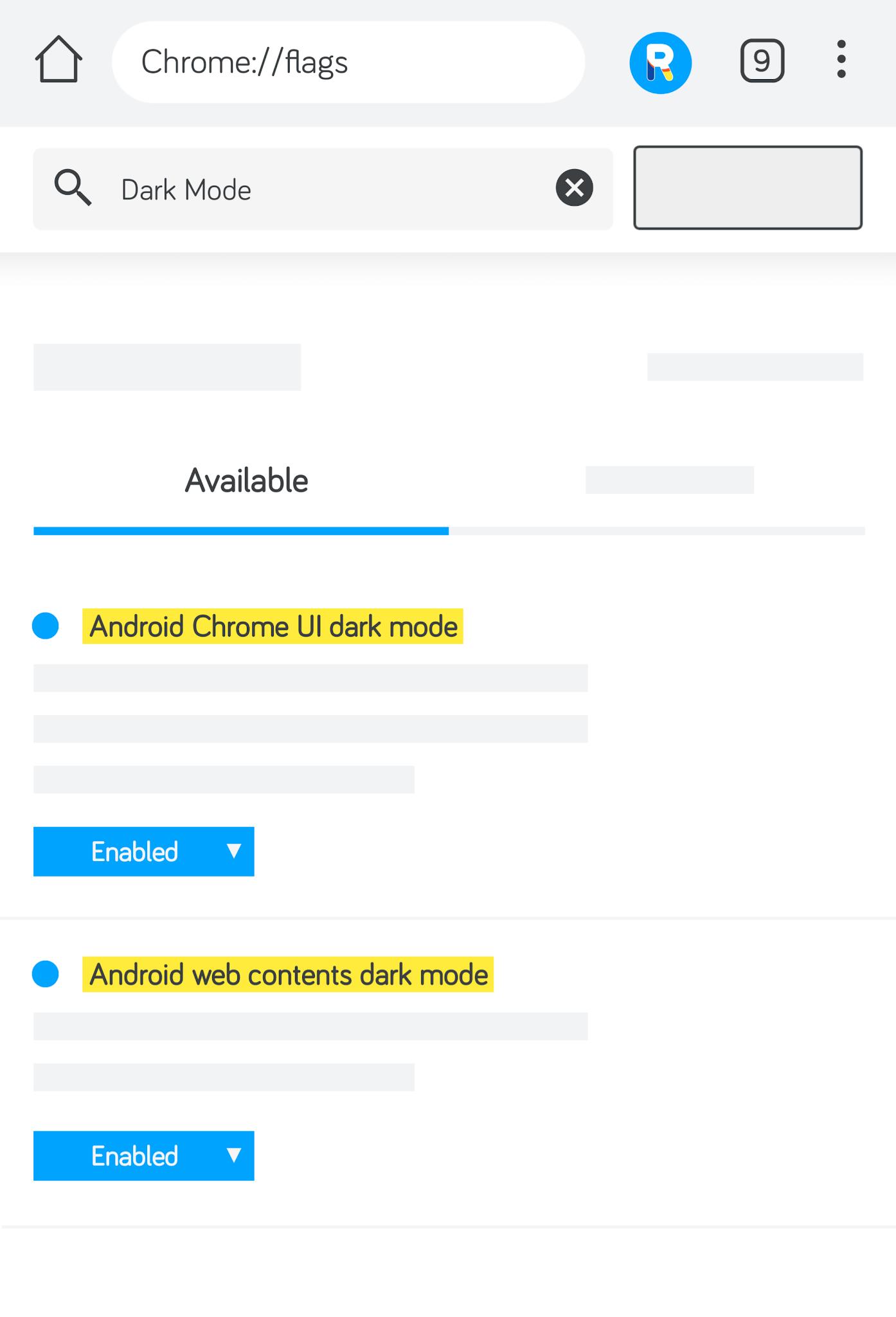 Chrome - Set Dark Mode