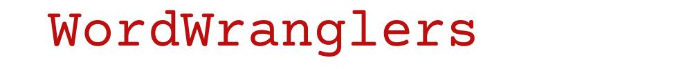 WordWranglers