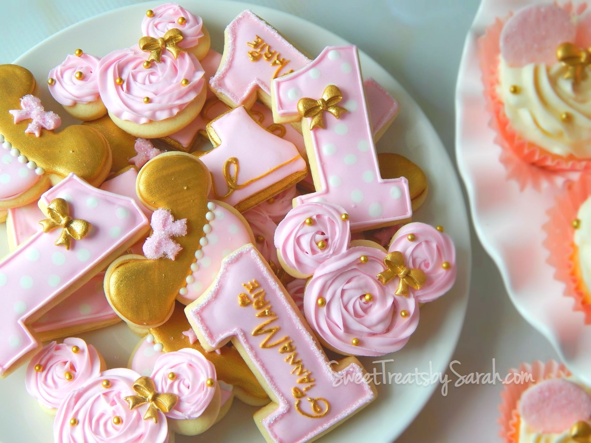 Sweet Treats By Sarah Gold And Pink Minnie Mouse Birthday