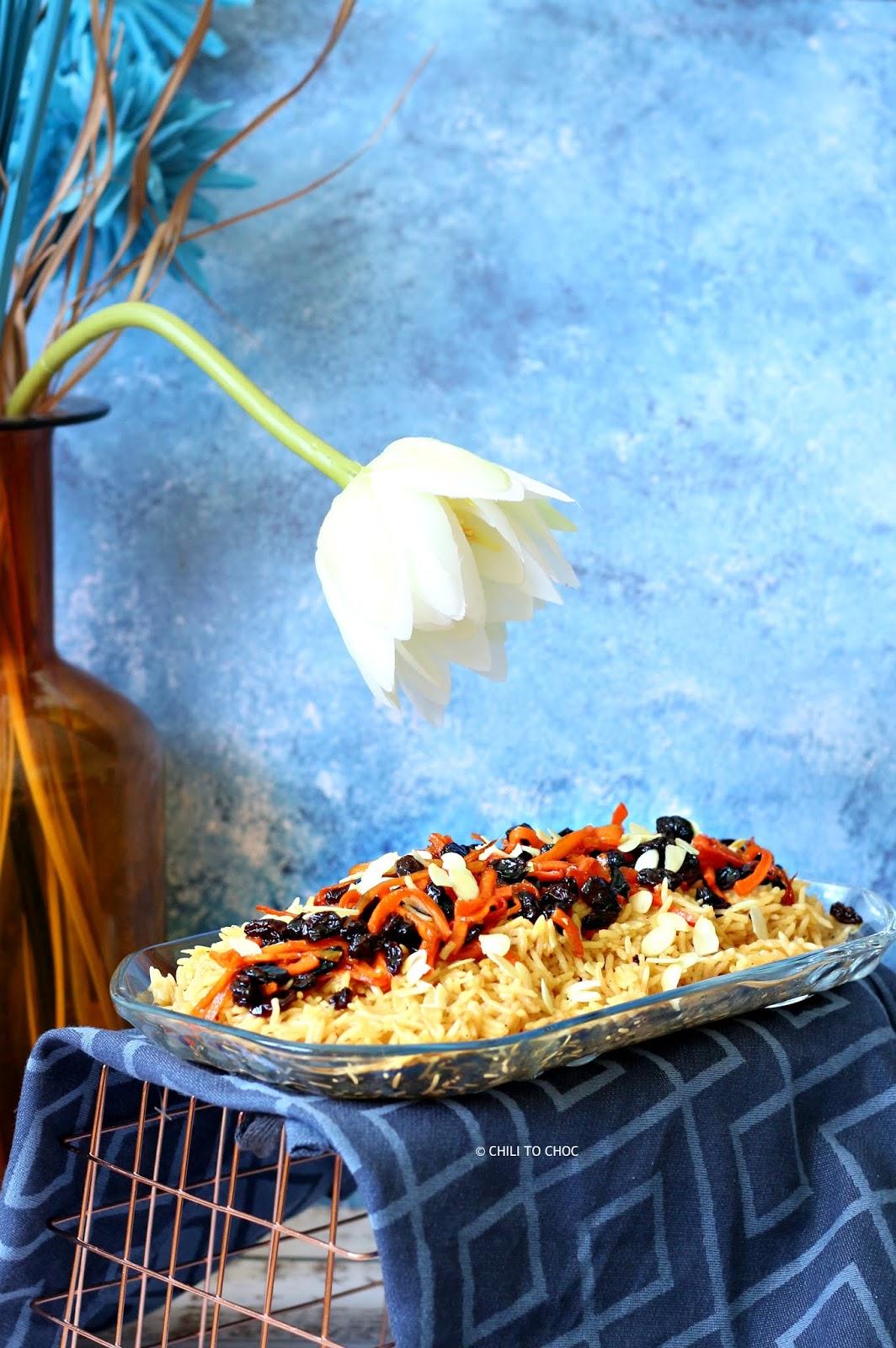 Meatless Afghani Kabuli Pulao/Rice
