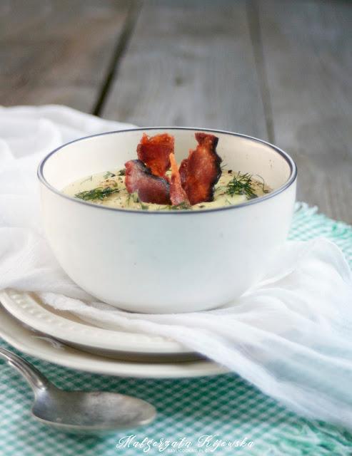 zupa krem, kremowa zupa z ziemniaków, kartoflanka z boczkiem, czipsy z boczku, chipsy z boczku wędzonego, daylicooking