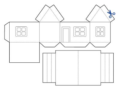 gunting gambar rumah