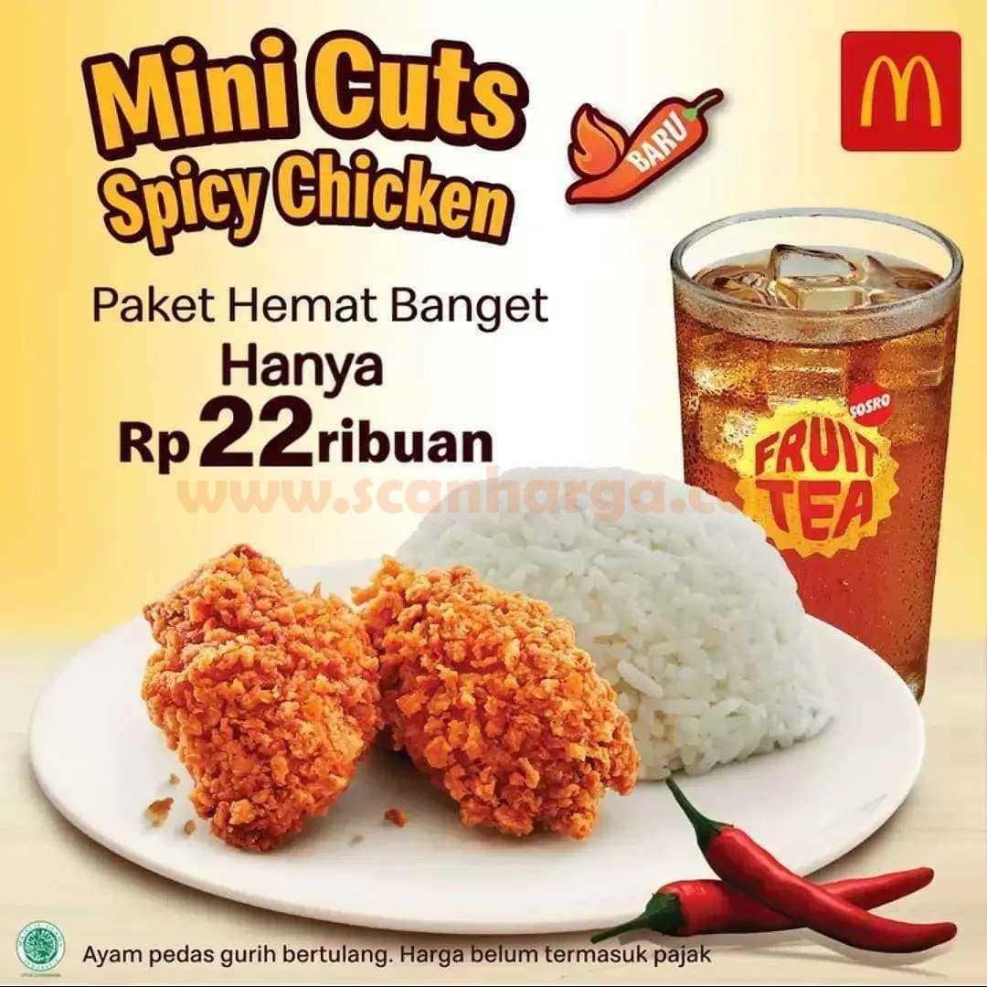 Promo McDonalds Mini Cuts Spicy Chicken Paket Hemat harga cuma Rp. 22 Ribuan