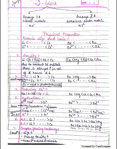 Chemistry Chapterwise Notes (S - Block) : For JEE and NEET Exam PDF Book
