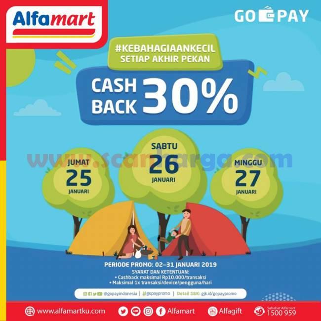 Promo Jsm Alfamart Cashback GoPay 13 - 15 September 2019