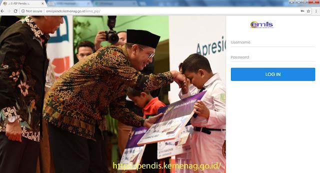 http://emispendis.kemenag.go.id/emis_pip/ Alamat Website EMIS PIP