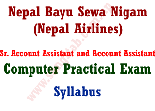 Nepal BayuSewa Nigam Sr. Account Assistant and Account Assistant Computer Practical Exam Syllabus