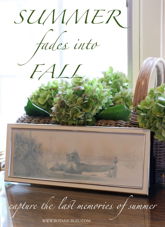 Summer fades into fall with ideas for capturing the last memories of summer in your home decor