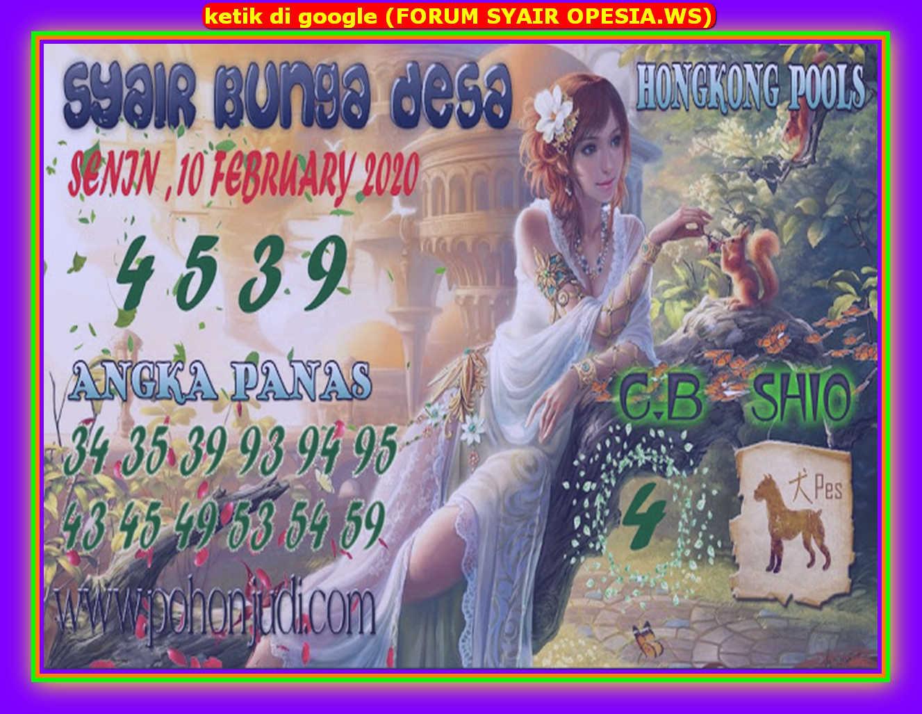 Kode syair Hongkong Senin 10 Februari 2020 111