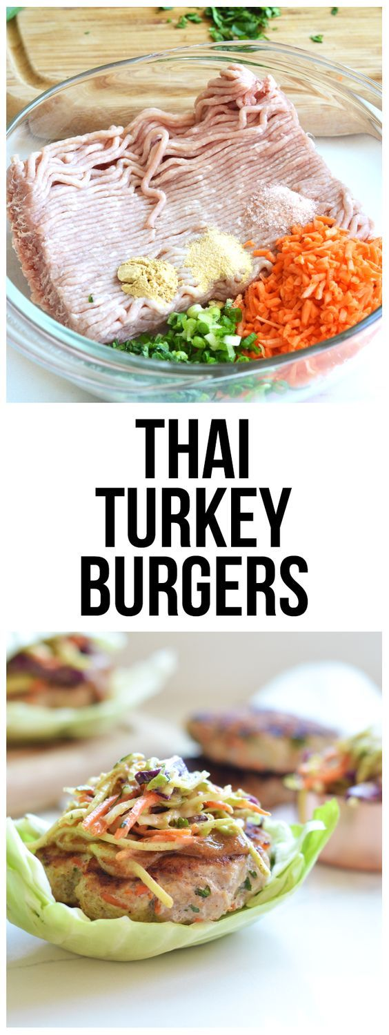 You know I LOVE me some turkey burgers so I whipped up some with a Thai twist that will knock your socks off!  You gotta try these Whole 30 Turkey Burgers Thai Style!