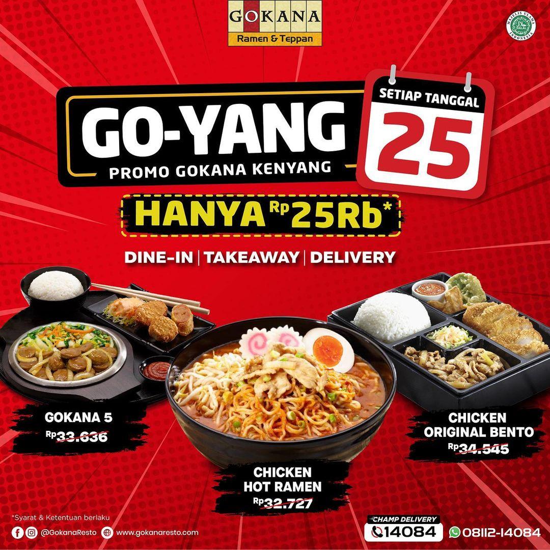GOKANA RESTO Promo GOYANG Harga Spesial Rp 25.000