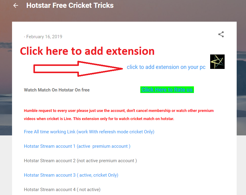 Tricks 4 You: how to watch live match on hotstar for free Extension