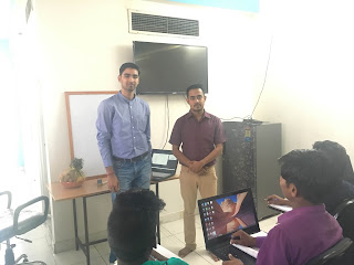 Sachin dube and Darshan Kothari, Entrepreneurship and managerial skills Development program at Vardhaman Infotech