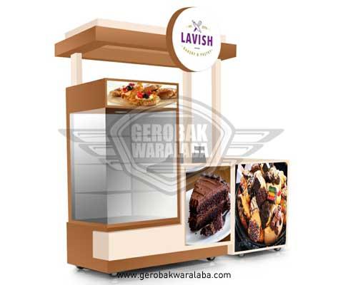 desain booth lavish bakery dan pastry
