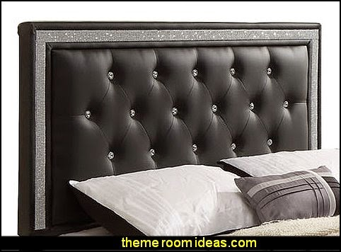 Upholstered Headboards faux crystals - Williams Import Co. Breen Upholstered Headboard