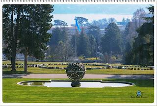 Landscape of a park in Geneva, Switzerland