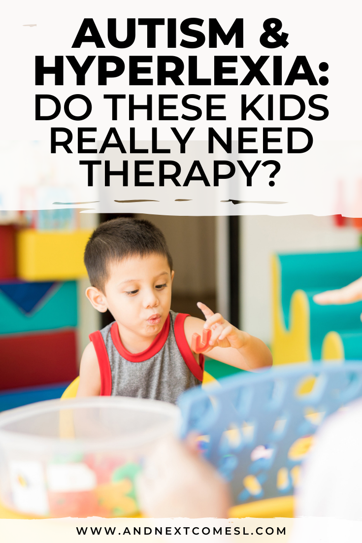 So many parents are told that their kids need to be in certain therapies simply for being autistic or hyperlexic and that's the wrong approach. Here's what needs to be done instead.