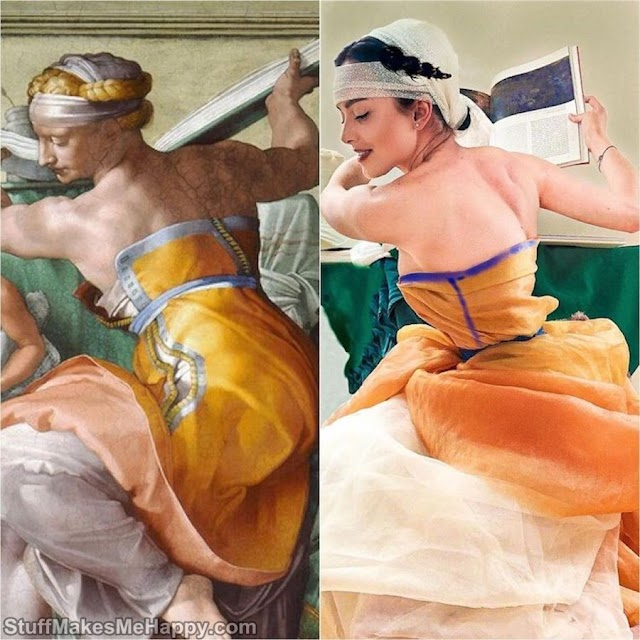 This Art Teacher Hijacks Famous Paintings with Creative Cosplays