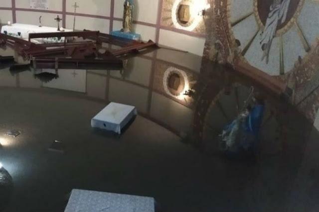 Catedral de Barquisimeto quedó bajo las aguas por falta de mantenimiento de alcantarillas