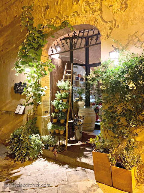 Restaurant in small Italian village