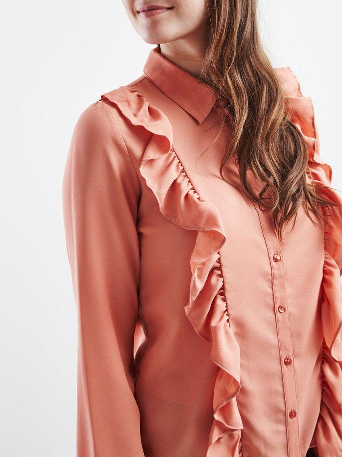 camicia vila con volants rosa primavera 2017