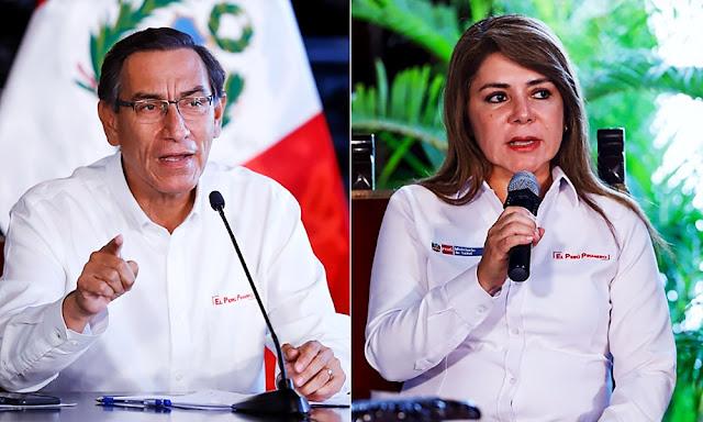Presidente Vizcarra anuncia el cese de Elizabeth Hinostroza como ministra de Salud