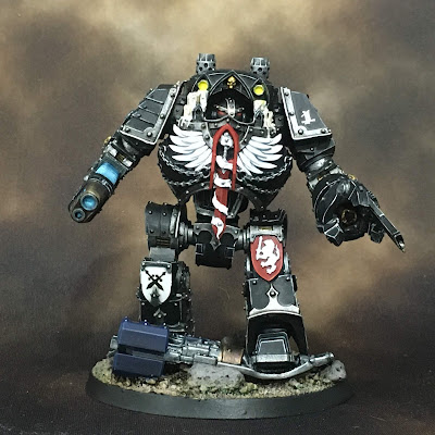 Horus Heresy Dark Angels Contemptor Dreadnought - Front Side