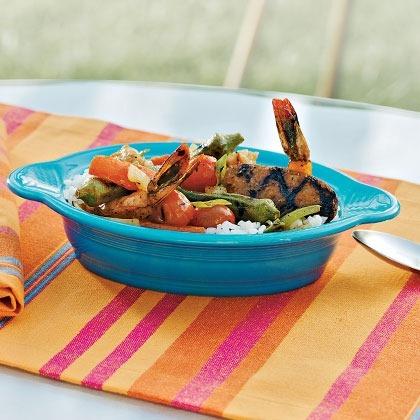 Grilled-Shrimp Gumbo