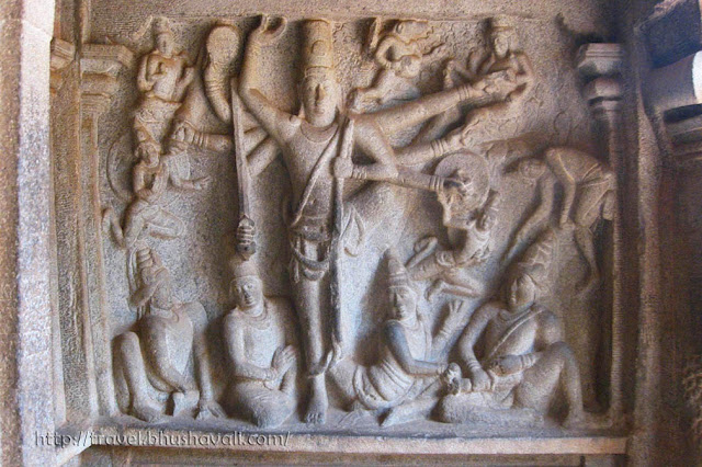 Trivikrama Panel, Sculptures of Mahabalipuram