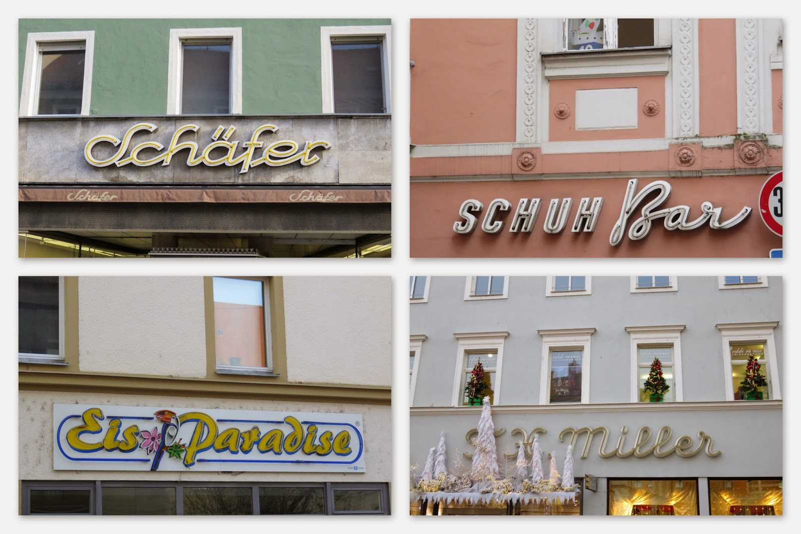 Regensburg - Old-Fashioned Neon Signs