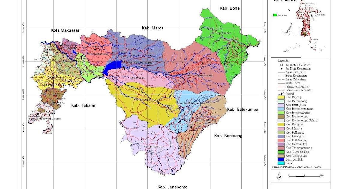 Peta Kota: Peta Kabupaten Gowa
