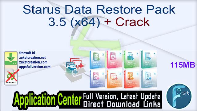 Starus Data Restore Pack 3.5 (x64) + Crack