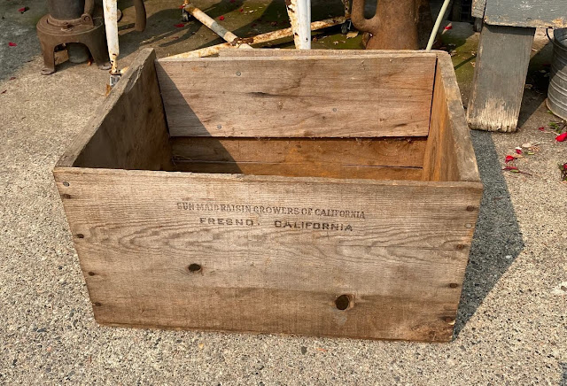 Photo of a vintage crate