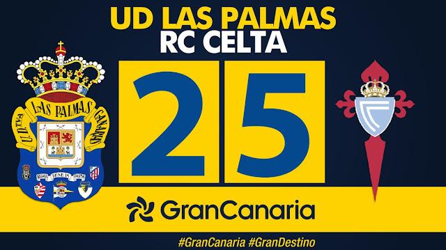 Marcador final UD Las Palmas 2-5 RC Celta