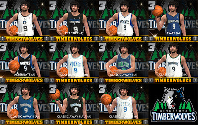 NBA 2K13 Minnesota Timberwolves Jersey Pack