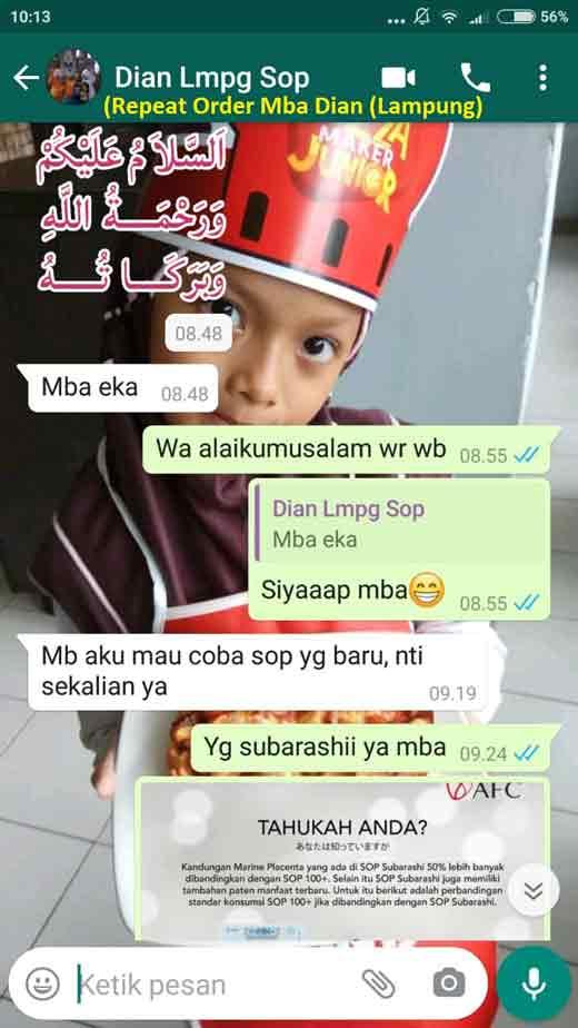 Agen Jual: SOP Subarashi Stemcell, AFC SOP 100+ Medan dan Utsukushii Artinya Bahasa Indonesianya, di Singkawang