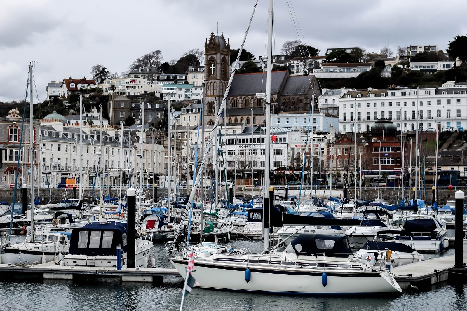 Torquay Marina Harbour in Spring 2018