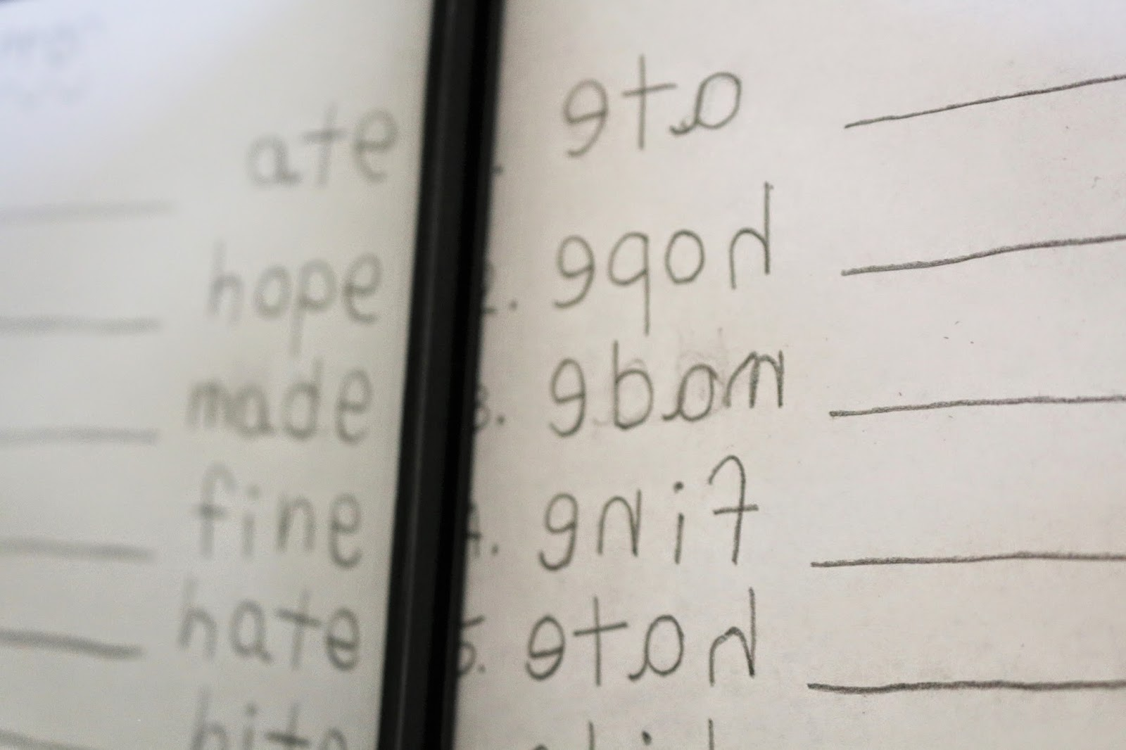 mirror spelling  school time snippets
