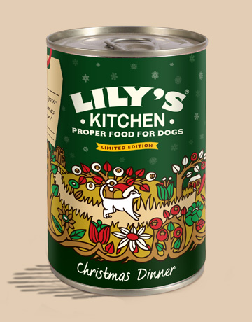 Christmas Dinner In A Tin.Dog Or Cat Save The Queen Eat Drink And Be Furry