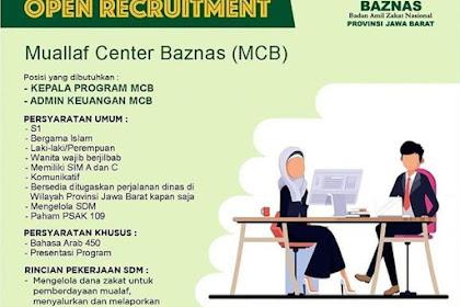 Loker Admin dan Kepala Program BAZNAS Penempatan Jawa Barat