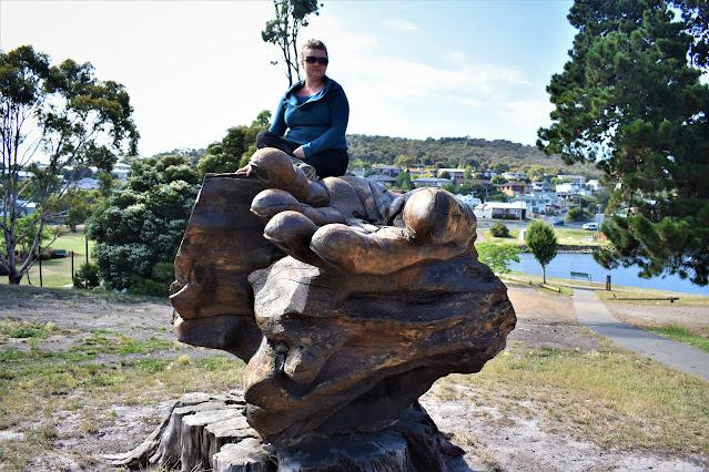 Hobart Public Art | Hand Sculpture by Matthew Carney