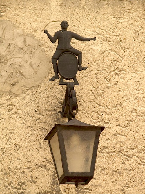 Auschwitz lamp forged by Jan Liwacz